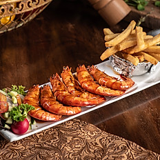 GRILLED TIGER PRAWN WITH HOMEMADE SAUCE (8PCS)