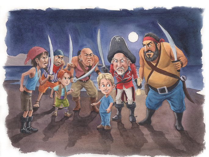 5 Everest meets the Angry Pirates (Watercolor)