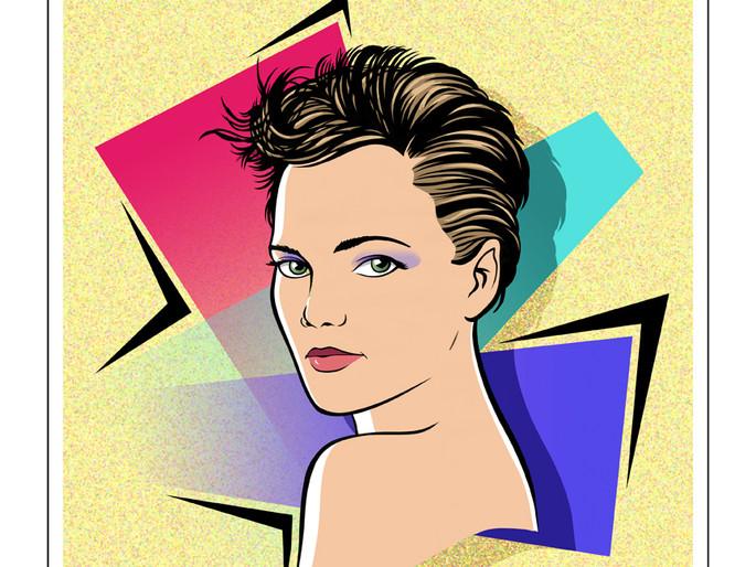 Keri Russell graphic portrait