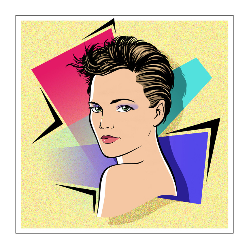 Keri Russell graphic portrait