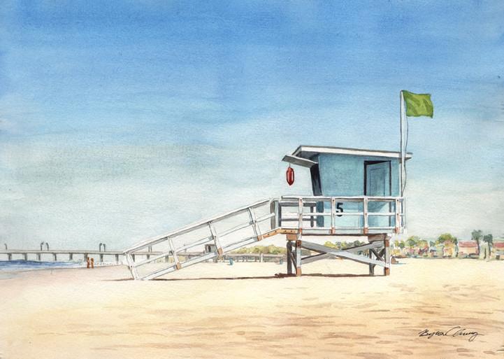 Huntington Beach lifeguard booth print 7