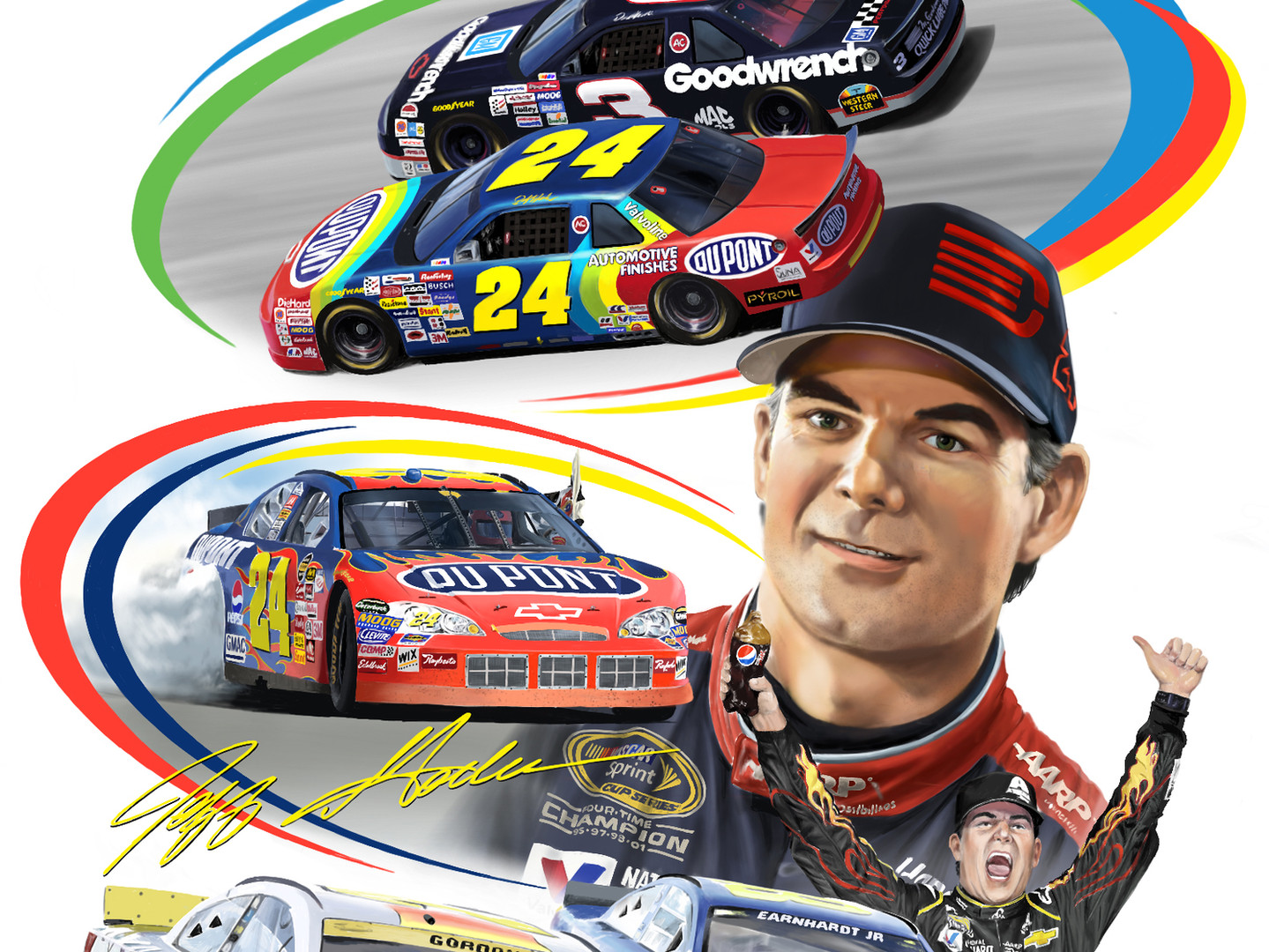 Jeff Gordon Portrait