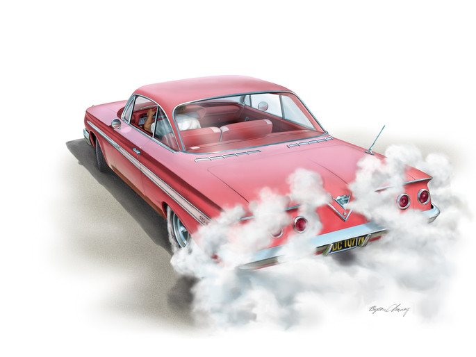 61' Chevy Burnout