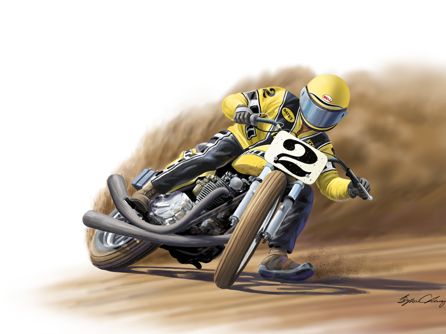 Kenny Roberts powerslide