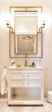 Gjestebad i Art Deco inspirert design