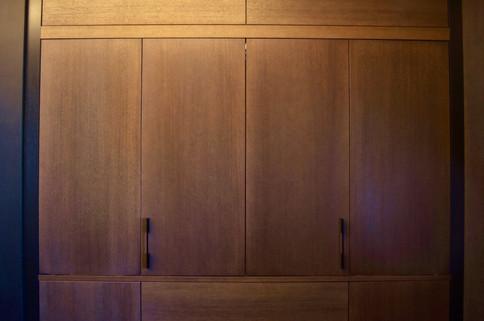 Når foldedørene er lukket gir det et ryddig og stilrent utrykk