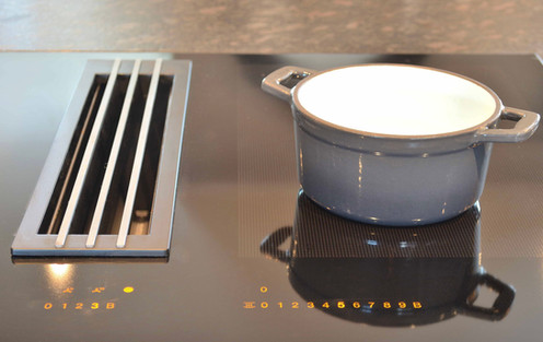 Sonefri induksjonstopp med innebygget ventilator