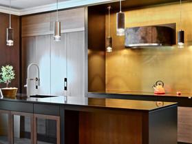 Et moderne kjøkken med rene linjer