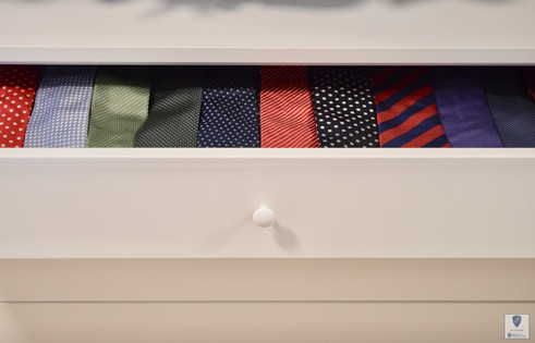 Denne toppskuffen skjuler et godt utvalg av slips i herreavdelingen