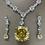 Thumbnail: Stunning yellow CZ 128.54 carats Sparkling  Necklace OSCAR