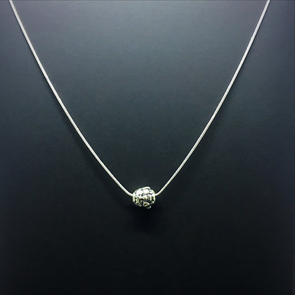Men's Necklace with Sterling silver Buddha Amulet
