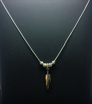 925 Feather Necklace - Native American Jewelry