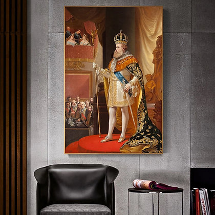 The Emperor's Speech Peter II of Brazil Canvas Painting Poster and Prints Wall A