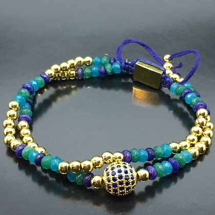 The Brazil Collection - Green Emerald, Blue Sapphire and Aquamarine