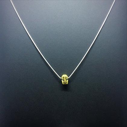 Gold Greek Spartan Helmet Necklace