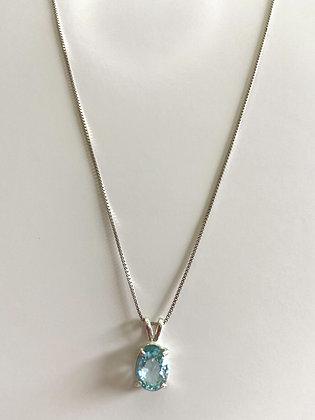 1.98 Ct neon apatite Pendant necklace 925