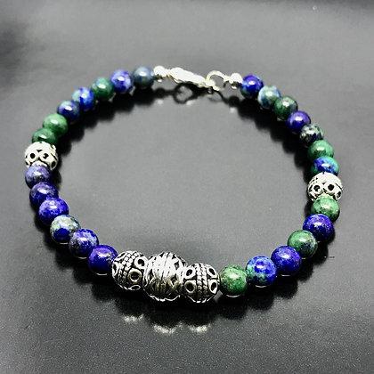 Men's Chrysocolla Bracelet With Thai Bead