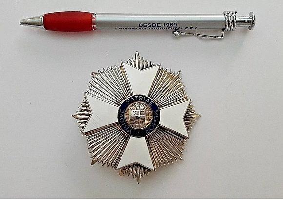 BRAZIL order medal of Rio Branco to merit 103 grs vintage badge breast star