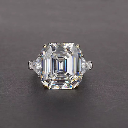 10.5 carats cushion Moissanite Wedding Engagement ring