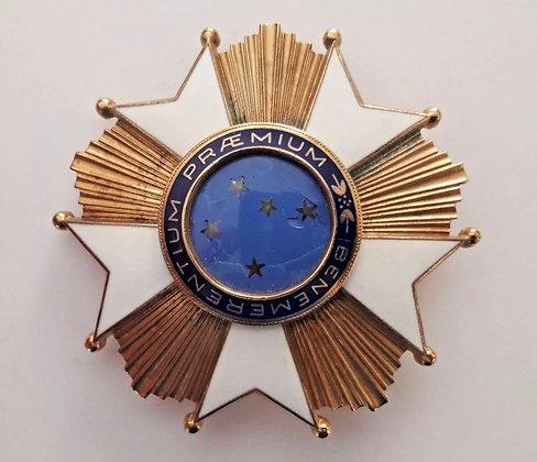 BRAZIL order medal Southern Cross grand officer breast badge star silver H.Stern