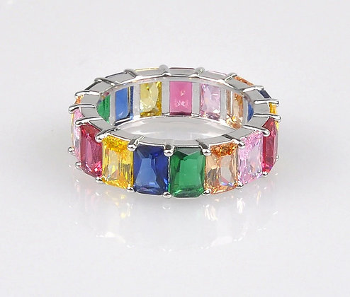Rainbow 925 Sterling Silver ring