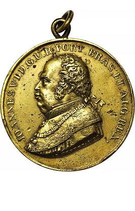 1820 BRASIL DOM JOÃO VI GILT BRONZE PROCLAMATION MEDAL