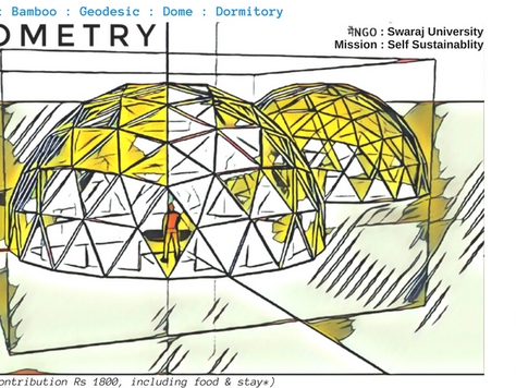 #Dometry : Two 10m 4V Geodesic Domes Dormitory