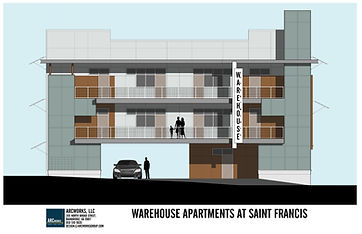 Warehouse apartments in tallahassee elevation drawing