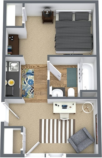 Flats on high 4 bedroom layout ideal for ant student in Tallahassee