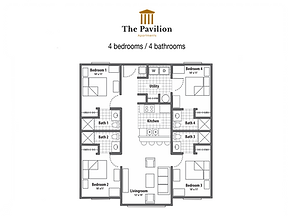 The Pavilion 4 bedrooms apartment floor plan