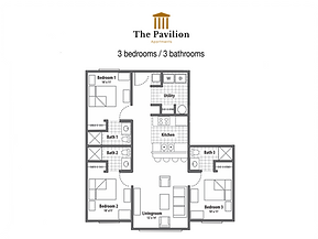 The Pavilion  3 bedrooms apartment floor plan