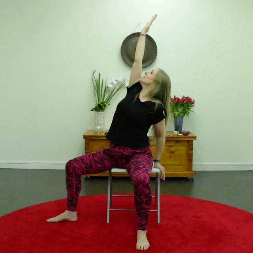 Chair Yoga Australia Warrior