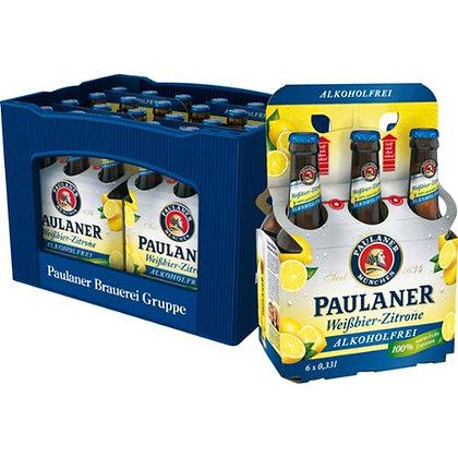 Paulaner WB-Zitrone Alk-Frei Glas 24x0,33L