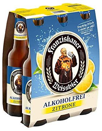 Franziskaner Weissbier Alkoholfrei Zitrone 6-Pack 24x0,33L