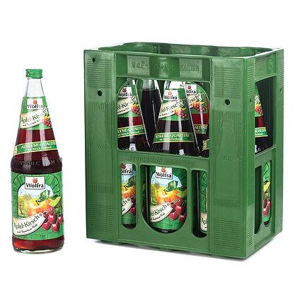 Wolfra Apfel-Kirsch Glas 06x1,00L