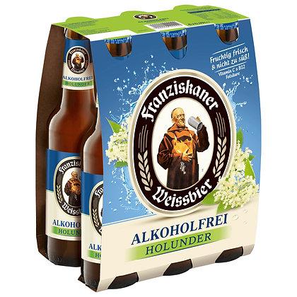 Franziskaner Weissbier Alkoholfrei Holunder 6-Pack 24x0,33L