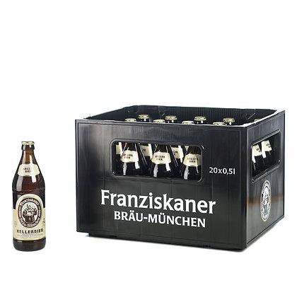 Franziskaner Keller Bier Glas 20x0,50L