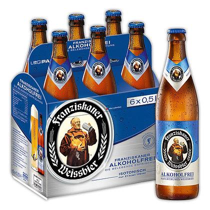 Franziskaner Weissbier Alkoholfrei 6-Pack 24x0,33L
