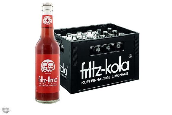 Fritz-Limo Apfel-Kirsch-Holunder Glas 24x0,33L