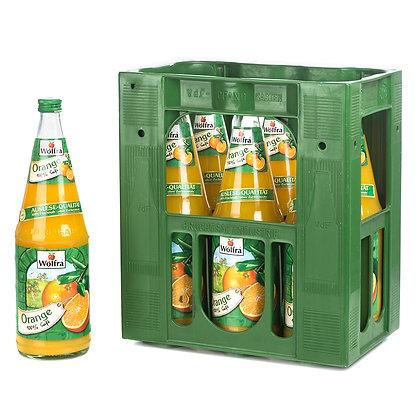 Wolfra Orangensaft Glas 06x1,00L