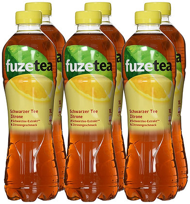 Fuze-Tea Schwarztee-Zitrone PET 06x1,00L