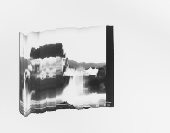 Catherine Evans, Exploded View 1:22 / 2:31, 2021, silver gelatin contact print on fibre based paper, mounted on aluminium, 50 x 39 cm