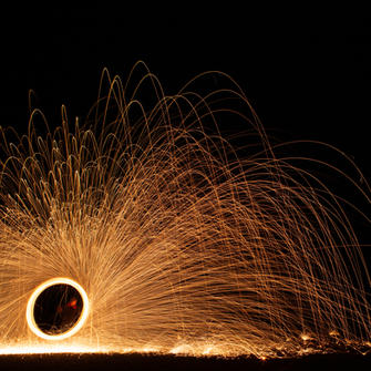 Human sparkler