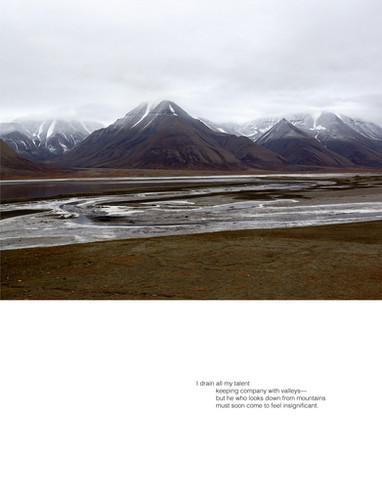 Ellen Dahl: Field Notes from the Edge #13 (2020) Archival pigment print on fibre rag 35 x 45 cm  Stanza Hannah Jenkins' Valley (2020)