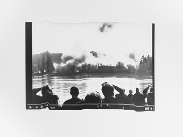 Catherine Evans, Exploded View 1:37 / 2:31, 2021, silver gelatin contact print on fibre based paper, mounted on aluminium, 50 x 39 cm