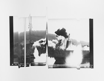Catherine Evans, Exploded View 1:21 / 2:31 (i), 2021, silver gelatin contact print on fibre based paper, mounted on aluminium, 50 x 39 cm