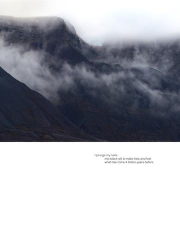 Ellen Dahl: Field Notes from the Edge #20 (2021) Archival pigment print on fibre rag 35 x 45 cm  Stanza Hannah Jenkins' Valley (2021)