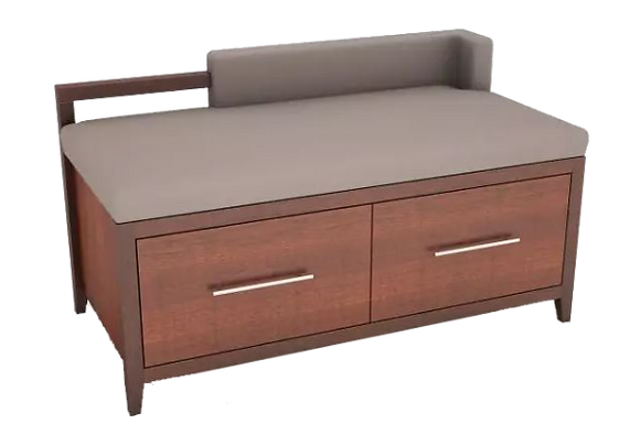 Luggage Bench with 2 Drawers