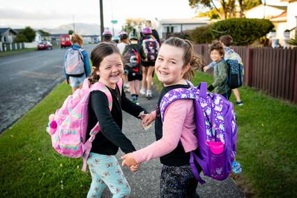 Kelson School's walking school bus gets the tick