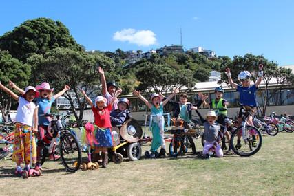 Lyall Bay School Wheels go Crazy!